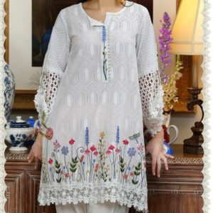 2 PCS Chikankari Embroidered Suit (Unstitched)