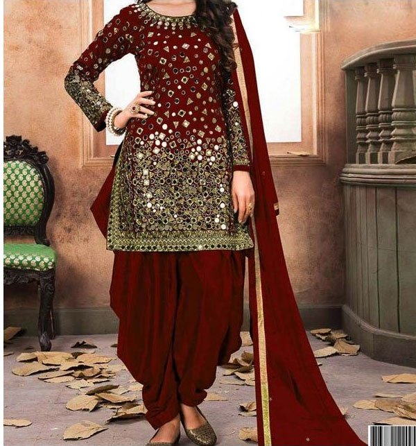 Embroidered Chiffon Party Dress (Unstitched) Silvafashion.com - Online Shopping in Pakistan