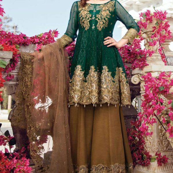 Embroidered Chiffon Dress (Unstitched) Silvafashion.com - Online Shopping in Pakistan