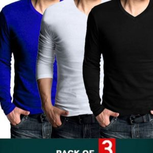 Winter Pack of 3 V-Neck Long Sleeves T-Shirts