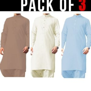 Pack of 3 – Wash & Wear Kameez Shalwar (Unstitched)