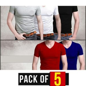 PACK OF 5 -V- NECK T-SHIRTS